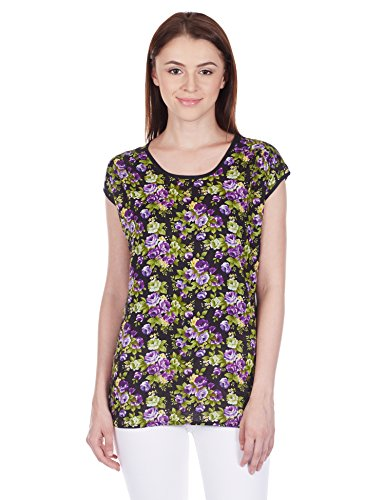Style Quotient By NOI Women's Body Blouse Shirt (AW15 SQ LILY_Purple_Large)  available at amazon for Rs.209