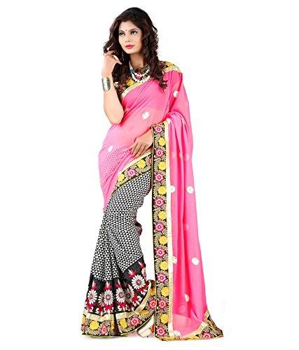 Yuvati Sarees Net Saree (9219_Pink)
