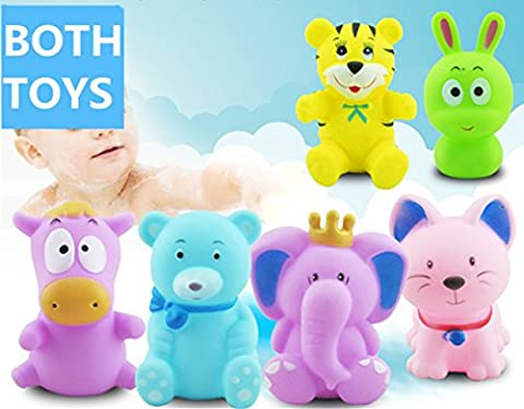 Jouets de bain, Morbuy Jouets de bain Baby Bathing Jouets en caoutchouc souple Jouets pour enfants Animaux Jouet de son (Jouets de bain 3)