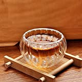 #5: LussoLiv 3Pcs 50ml High Temperature Resistant Glass Tea Cup Pumpkin Shape Glass Cup