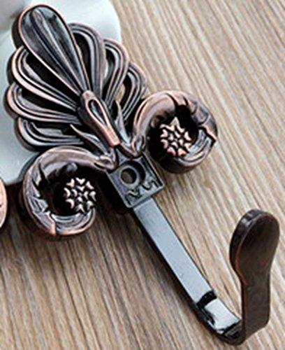 HC, Textilvorhang, Gardinenhalterungen, Wandhaken, in Silber, Kupfer, Bronze und Gold Bronze Crown -