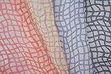 Spalier Print Chiffon Stoff Karamellfarben / Braun