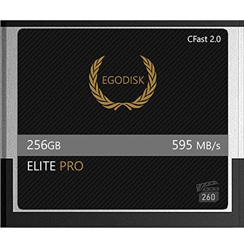 Egodisk Elite Pro 256GB CFAST Card 2.0–(Blackmagic URSA mini 4K • 4.6K | Canon XC10• XC15• 1DX Mark II • C200C300MK2• C700| Hasselblad h6d-50C • h6d-100C | Atomos)–3anno di garanzia