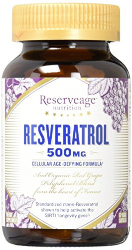 ReserveAge Organics The World's Finest Resveratrol 500 mg 60 vegetarian capsules