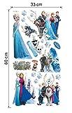 Gefrorene selbstklebend Wandtattoo mit dem Bild von die Eiskönigin Figuren in verschiedenen Aufnahmen