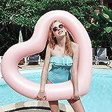 ED-Lumos aufblasbare Luftmatratze in Herzform Schwimmring Bett Schwimm Pool Schwebebett Float...