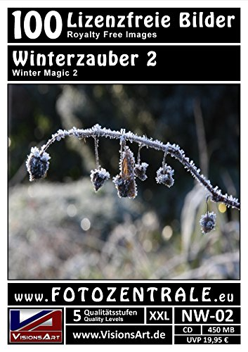100 Lizenzfreie Profi-Bilder/Fotos! Winterzauber 2 (Royalty Free) Foto-CD 450 MB