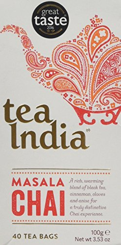 Tea India Masala Chai 40 Tea Bags, 100 g