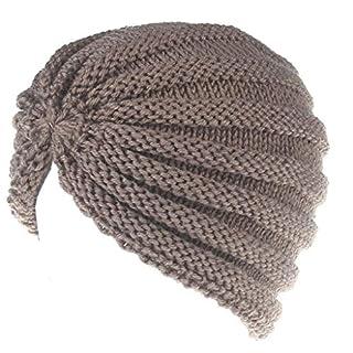 Amcool Damen Winter Warm Knit Häkeln Ski Hut Indian Style Stretch gestrickt Hut Turban Kopf Wrap Cap