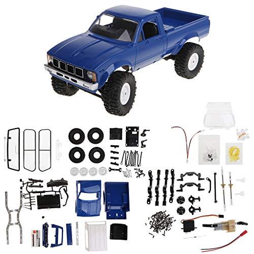 YiFeiCX WPL C24 2,4 G DIY RC Car Kit 4 WD Remote Control Crawler Offroad Buggy Umzugsmaschine Kinder Spielzeug blau - Remote-control Car Kit