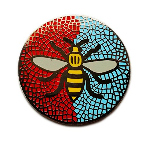Manchester Bee Badge Selection (Mosaic City United)