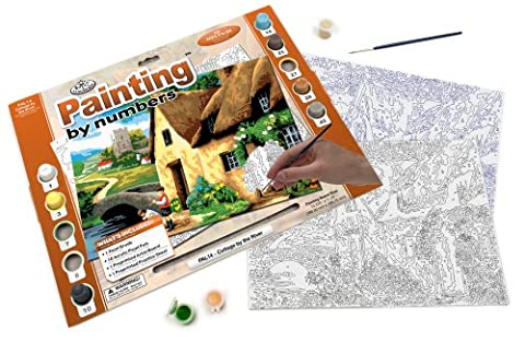 Royal & Langnickel PAL14 Cottage by the River Painting by Numbers Kit