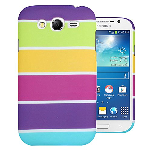 Heartly Strip Style Retro Color Armor Hybrid Hard Bumper Back Case Cover For Samsung Galaxy Grand Duos I9082 / Galaxy Grand Neo GT-I9060 / Galaxy Grand Neo Plus I9060I - Yellow Field  available at amazon for Rs.269