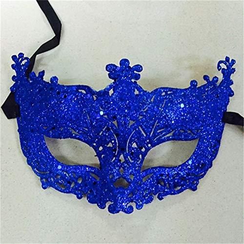 WWVAVA Maske Maskerade Performance Halbes Gesicht Fuchs Pailletten Spitze Maske Prinzessin Venedig Maske Halloween Weihnachtsfeier Ball Maske, Pink