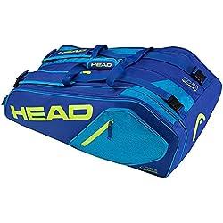 Head Core 9R Supercombo raqueta de tenis bolsa, color Azul/amarillo, tamaño talla única