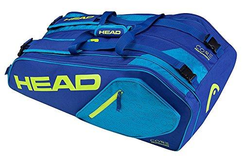 Head Core 9R SuperCombo Tennisschläger Tasche, unisex, Core 9R Supercombo, blau / gelb, Einheitsgröße