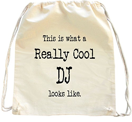 Mister Merchandise Turnbeutel natur Rucksack This is what a really cool DJ looks like. , Farbe: Natur