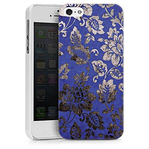Apple iPhone X Silikon Hülle Case Schutzhülle Ornament Blumen Silber Hard Case weiß