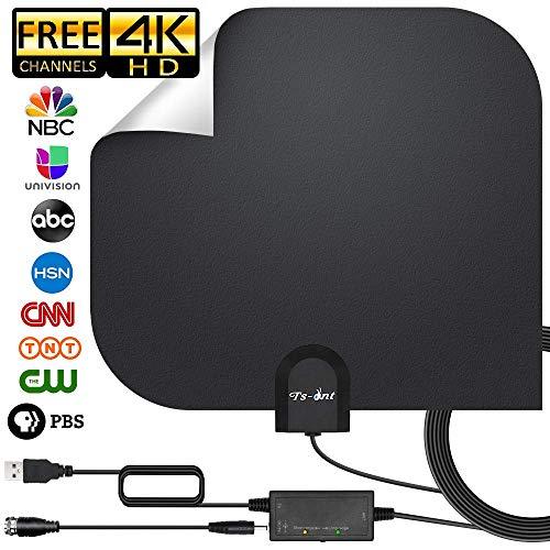 ZUZU HDTV Antenne, Indoor Digital TV Antenne Kostenlose HD VHF Uhf & All Older TV's Digital Antenne mit Verstärker Signal Booster, 17ft Koax Kabel Uhf-signal-booster