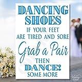 Dancing Schuhe Füße Flip Flop Hochzeit Tisch Schild Dekoration Karte Postkarte Braut Bräutigam Hochzeit Vintage Rustikaler Shabby Chic Novelty Andenken-personalisierbar jeder Größe, Farbe, Text A4A5A6A7
