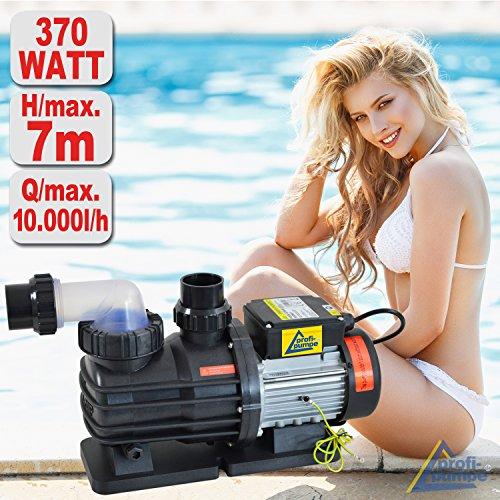 SONDERANGEBOT! Schwimmbadpumpe POOL-STAR-250/370/500/550/800//1100/1200/1600/2000, Poolpumpe - Filterpumpe Schwimmbad / Swimmingpool, energiesparsam zuverlässig und effektiv, leichte Filterreinigung (POOL-STAR 370)