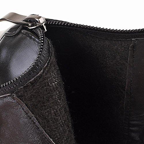 Mee Shoes Damen Stiletto spitz Reißverschluss Ankle Boots Schwarz