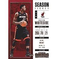 2017–18Dépasse Panini Season Ticket # 63Hassan Whiteside Miami Heat Basketball carte