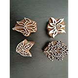 Woodenblockstamps 2 Inches To 3 Inches 4 Pcs Set Flower Design Printing Block Wooden Block Henna Block Textile Printing Block Wooden Printing Block