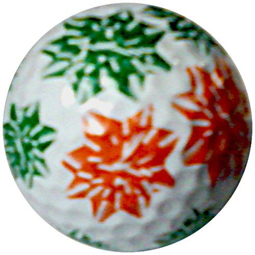 Générique Rouge et Vert nœuds de Noël Vacances d'hiver de Balle de Golf 1 Balle
