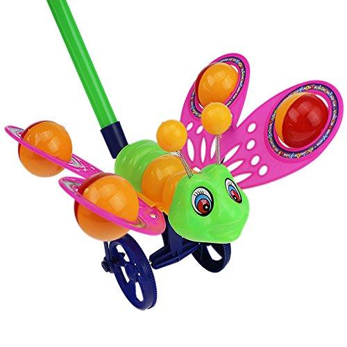 Deanyi Baby Trolley Spielzeug mit Bell niedlichen Schmetterling Cartoon Puzzle Kleinkind Halloween Spielzeug