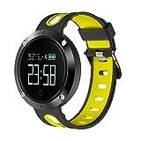 rqnpn5 Smart Watch Fitness Tracker, Herzfrequenz-Blutdruckmessgerät, Smart Armband, Bluetooth Schrittzähler, Wasserdicht Sport Armband IP67, C