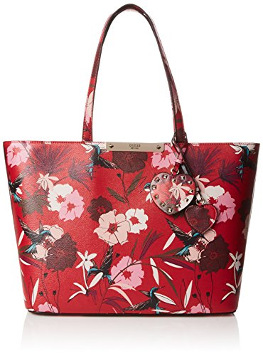 Guess Hwff6693230, Borsa a Mano Donna, 12x22.5x28.5 cm (W x H x L) Rosso (Red Floral)