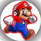 Fondant Tortenaufleger Tortenbild Geburtstag Super Mario N3