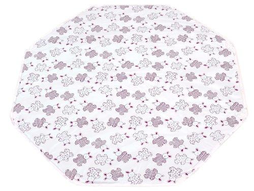 Looping Tapis de parc octogonal en PVC avec œillets de fixation - Dimension : 108 x 108 cm Lapin Cassis