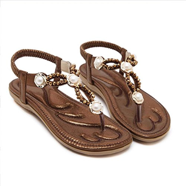 xzgc vérifier l'eau forer forer forer à fond plat élégant sandales de plage féminin, 3,5 uni, Marron  b07bt5csd1 parent   Outlet Store En Ligne  1988c1