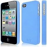 EMPIRE KLIX Slim-Fit Dur Case Étui Coque for Apple iPhone 4 / 4S - Quicksand Light Bleu (Films de pr