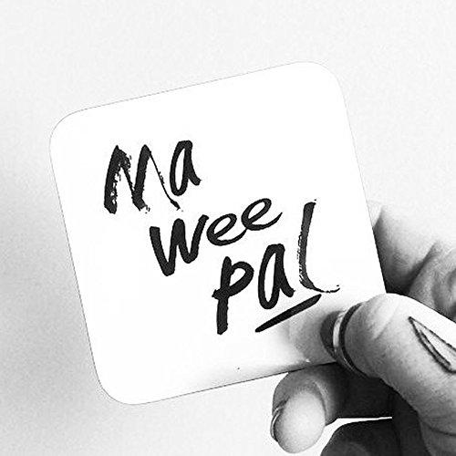 Ma Wee Pal White Gloss Coaster | Scottish Gifts