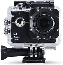 PROCUS Rush 2.0 (Basic Pack) 16MP 4K HD Action Camera Waterproof with WiFi (Black)