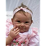 NPK collection Reborn Baby Doll, Vinyl Silicone 22 inch 55 cm Babies Doll, Lifelike express Toys Girl for Children Gift by NPK collection