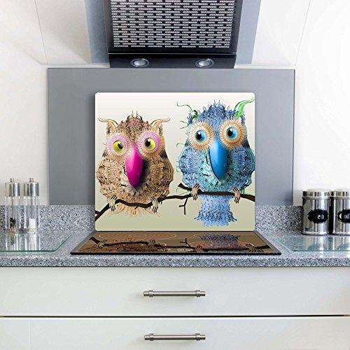 Gsmarkt-Herdabdeckplatte-Schneidebrett-Spritzschutz-60×52-Bild-auf-Glas-Sicherheitsglas-Gehrtetes-Glas-Bild-Motiv-Tiere