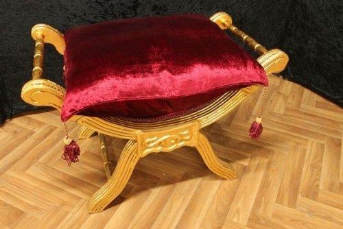 Barocco banchetto forbici sedia stile antico vintage sgabello