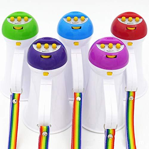 HshDUti 5W faltbare Mini Megaphon Mikrofon Horn Stier Lautsprecher Verstärker Megafon Random Color