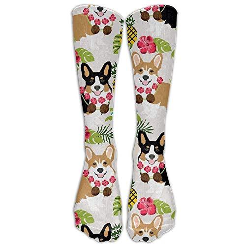 Gped Kniestrümpfe,Socken,Style Unisex Socks Casual Knee High Stockings Tropic Corgi Socks