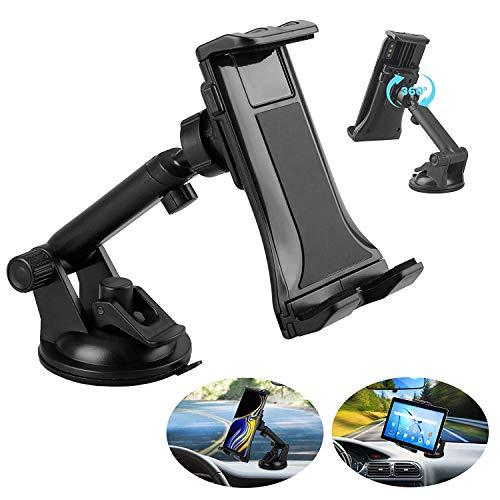 """Linkstyle 2-in-1-Kfz-Tablet-Halterung, Universal-Windschutzscheibenhalterung für Autohalterung mit Saugnapf, kompatibel mit Samsung Galaxy/iPad Mini/iPad/iPad Pro/iPhone (4""""-12"""")"""