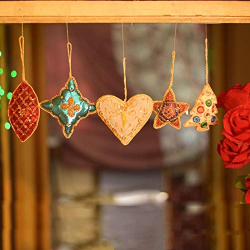 Hashcart Decorative Handmade Hanging Christmas Tree Ornaments/Wall Décor/Door Entrance in Different Shape...