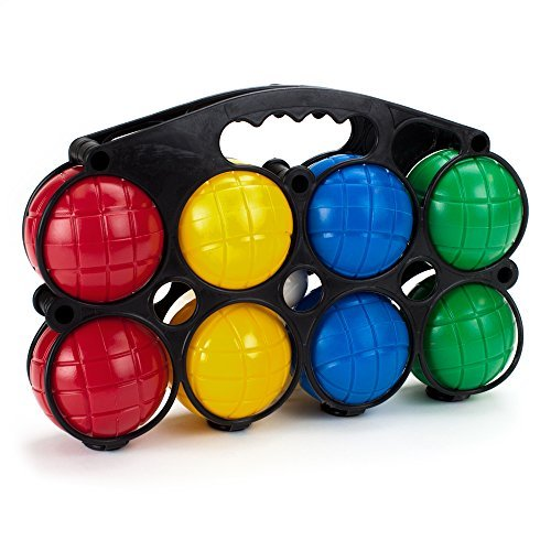 Crown Sporting Goods Beginner's 4-Player Bocce Set with Carrying Case by Crown Sporting Goods