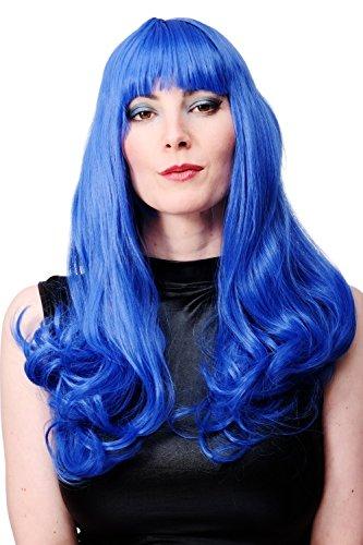 WIG ME UP ® - WIG021-BLUE Peluca larga azul mujeres