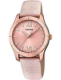 Calypso UK5718/2 reloj de pulsera para mujer, analógico, moderno, de cuero y cuarzo, esfera rosa