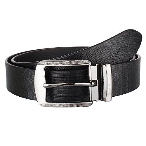 SPAIROW Silas Men'S Black Color 100% Genuine Leather Belts