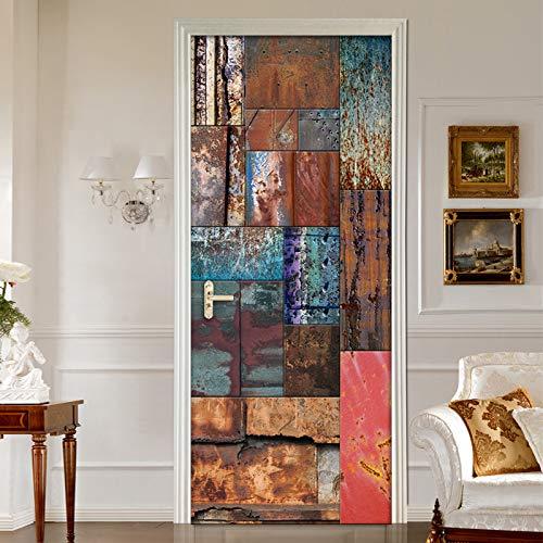 Vintage Zinn Kreative Selbst-Stick Tür Wand Malerei Café Restaurant Studie Dekorative Tür Aufkleber Tapete -